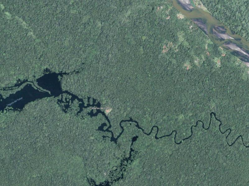 Map of Eden Amazon Lodge, Yasuni, Ecuador, Amazon