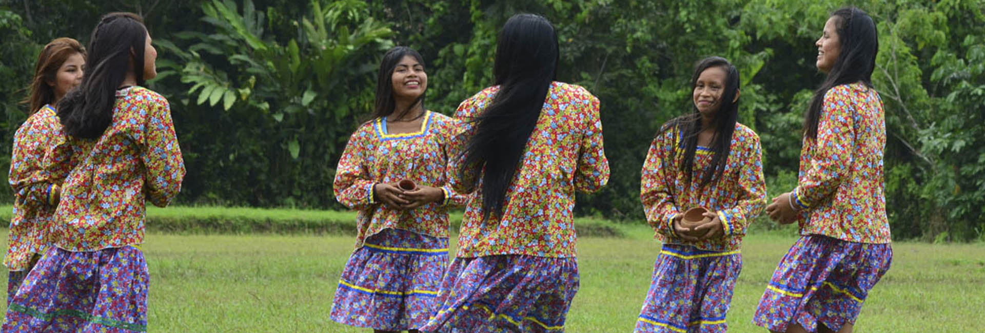 Amazonian Kichwa Indigenous Girls Dancing